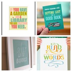 on her blog she has a great set of quotes about reading