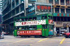 Hong Kong Tramways double-deck tramcar 111 | Copyright John … | Flickr