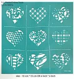 Stencil Stencils Pattern Hearts Template Reusable Adhesive