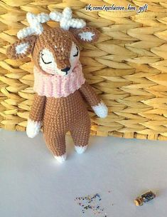 New Crochet Toys Patterns Amigurumi Free Knitting 55 Ideas Crochet Deer, Crochet Baby Boots, Crochet Slippers, Crochet Amigurumi Free Patterns, Knitting Patterns, Knitting Toys, Free Knitting, Sewing Patterns, Christmas Toys
