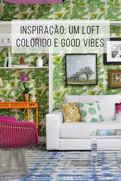 Inspiração: um loft super colorido e super good-vibes ✌︎ // Inspiração: um loft colorido e super good-viber. O que é tendência no design e na decoração?  // palavras-chave: faça você mesma, DIY, passo a passo, inspiração, ideia, tutorial, decoração, design de interiores, tendências, loft, cor, papel de parede, inspiração, diy, faça você mesmo, carioca, do bem, sala, sala de jantar, sala da tv, cozinha, quarto, escritório,