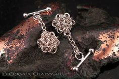 Chainmaille cuff links for men!