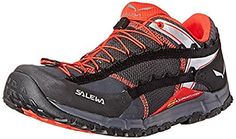 Salewa Mens Speed Ascent Shoes Carbon  Flame 115  Etip Lite Gripper Glove Bundle * See this great product.(This is an Amazon affiliate link and I receive a commission for the sales)