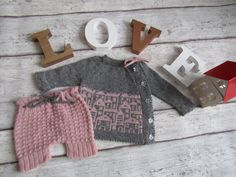 baby girl outfit-grey and pink cardigan-shorts-baby outfit-0-3 months-baby shower newborn gift-photography prop by ErikasMagicWardrobe on Etsy