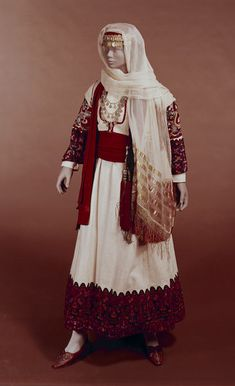 Woman's folk costume, 1800's, Attica Greece.