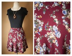 1990s Necessary Objects Tiny FLORAL Rayon by BlueHorizonVintage, $24.00
