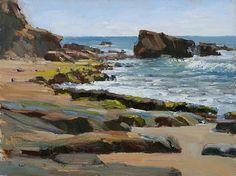 Jim Wodark - Beach Rocks- Oil - Painting entry - February 2010   BoldBrush Painting Competition