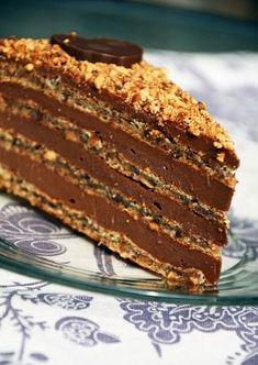 Lješnjak – Nutella torta - Domaci Recept Torte Recepti, Kolaci I Torte, No Bake Desserts, Just Desserts, Cake Cookies, Cupcake Cakes, Rodjendanske Torte, Hazelnut Recipes, Homemade Cookies