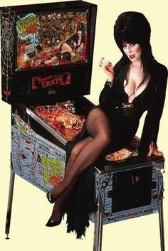 Vintage Geek Culture — Elvira had not one, but TWO pinball machines,. Beautiful Celebrities, Gorgeous Women, Pin Up Noire, Pinball For Sale, Elvira Movies, Cassandra Peterson, Classic Video Games, Scared Stiff, Bride Of Frankenstein