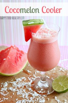 Cocomelon Cooler. That's right, a perfect blend of watermelon and coconut, combined to create a wonderfully refreshing beverage {nonalcoholic}