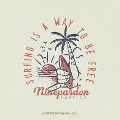 Outdoor Logos, Branding Design, Logo Design, Beach Illustration, Surf Outfit, Graphic Design Inspiration, Wall Collage, Simple Designs, Vintage Designs