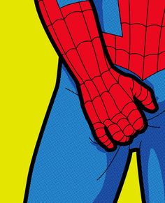 """Secret life of heroes"" of illustrator Greg Guillemin: Spiderman"