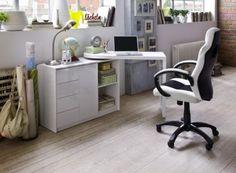 Schreibtisch Kombination Axel #Office #Arbeitszimmer #Büro #Schreibtisch #weiß #Möbel #hochglanz