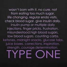 Type One -Purple | Type 1 Diabetes #diabetestype1