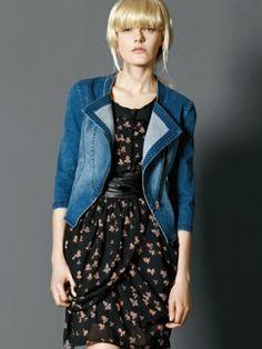 Wholesale fashion long-sleeved jean jacket for women