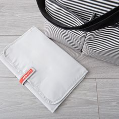 Skip Hop Duo Black and White Stripe Diaper Bag | The Land of Nod