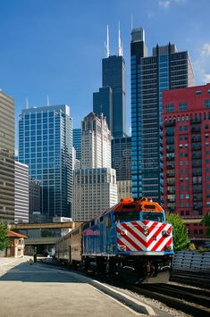 I miss my Metra train rides to and from my job in downtown Chicago now that I work in the suburbs Chicago City, Chicago Illinois, Chicago Usa, Milwaukee City, Visit Chicago, Chicago Chicago, Chicago Skyline, Great Places, Places To See