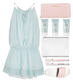 """""""Blue and pink 7/1"""" by dianakhuzatyan ❤ liked on Polyvore featuring Elizabeth and James, Vans, Michael Kors, Giorgio Armani, L'ATELIER d'exercices, summertime, blueandpink and summer2016"""