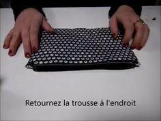 Tuto couture trousse à fermeture, doublée, simple, débutante - YouTube