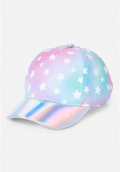 21460a40800 Holographic Star Baseball Hat Birthday List