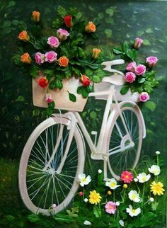 Good morning my beautiful girls. Happy Wednesday Quotes, Good Morning Wednesday, Wednesday Memes, Bicycle Decor, Bicycle Art, Bike Planter, Bicycle Pictures, Garden Whimsy, Good Afternoon