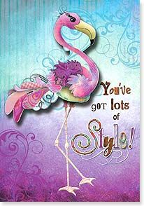 Birthday Card 24114 - Here's to another year of strutting… Flamingo Craft, Flamingo Ornament, Flamingo Painting, Flamingo Gifts, Flamingo Birthday, Flamingo Party, Flamingo Coloring Page, Pink Pigeon, Flamingo Pictures