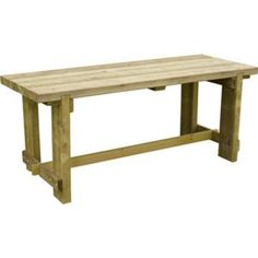 Find Forest Garden Refectory Wooden Garden Table - at Homebase. Visit your local store for the widest range of garden & outdoor products. Wooden Garden Table, Wooden Side Table, Steel Dining Table, Dining Bench, Outdoor Mirror, Forest Garden, Garden Furniture Sets, Bistro Set, Chair Bench