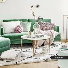 Stolik kawowy Alisma o średnicy 80 cm - złota podstawa Decor, Furniture, House, Shabby, Table, Home Decor, Coffee Table