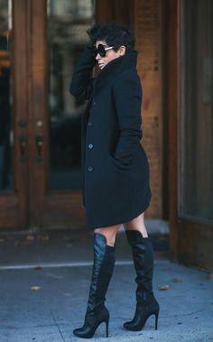 "ecstasymodels: ""Steve Madden Boots Kryzada "" Fashion Mode, Diva Fashion, Fashion Looks, Womens Fashion, Fashion Killa, Fall Winter Outfits, Autumn Winter Fashion, Chic Outfits, Fashion Outfits"