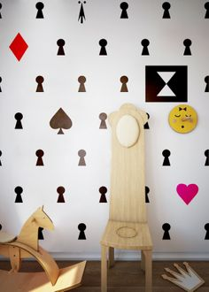Humpty Dumpty Room Decoration Wallpaper Alice / interior design Fajnodesign.by