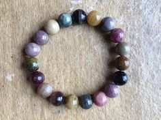 Tourmaline Multi-Colour for a 6 & 1/4 Inch Wrist Stones are 10mm by Crystalcures4u on Etsy