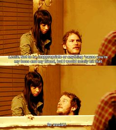 Parks and Recreation: Andy Dwyer and April Ludgate Parcs And Rec, Andy And April, Parks And Rec Quotes, Parks Department, Aubrey Plaza, Comedy Tv, Parks And Recreation, Best Shows Ever, New Girl