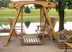 I have always wanted one of these...  http://www.hilltoplawndecor.com/swings/canopy_glider_swing1.jpg