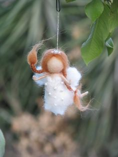 Needle felted fairy Christmas ornament home decor by Made4uByMagic, $26.00