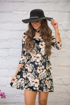 A Love That Will Last Floral Dress - The Pink Lily