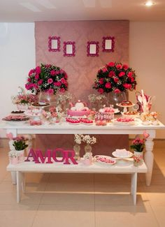60 Awesome Engagement Party Decor & Ideas to Organize Party Decoration, Baby Shower Decorations, Wedding Decorations, Table Decorations, Deco Buffet, Deco Table, Candy Table, Dessert Table, Pink Parties