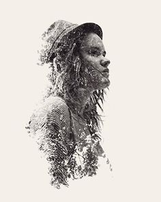 """weandthecolor: """" We Are Nature A series of multiple exposure photographs by graphic designer and self-taught photographer Christoffer Relander. source: ignant.de Facebook // Twitter // Google+ //..."""