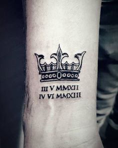 stylish crown tattoo