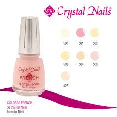 #Colores #French de #CrystalNails