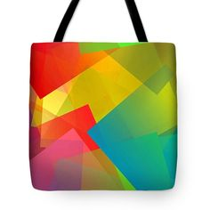 Simple Cubism Abstract 134 Tote Bag by Chris Butler. #totebag #bag #abstract #colorful #design #art #Lifestyle