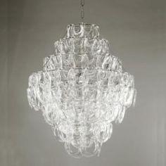 """Sorbonne Crystal Chandelier Glass Chandelier with 4 Lights 34""""H x 27"""" W Price TBD"""
