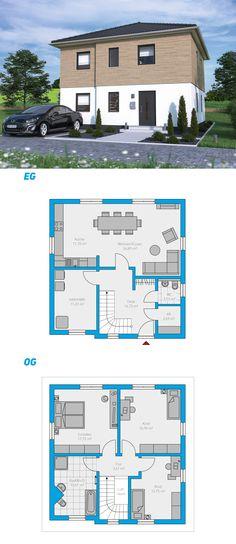 Edita 129 - schlüsselfertiges Massivhaus 2-geschossig #spektralhaus #ingutenwänden #2geschossig #Grundriss #Hausbau #Massivhaus #Steinmassivhaus #Steinhaus #schlüsselfertig #neubau #eigenheim #traumhaus #ausbauhaus