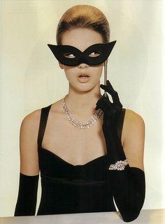 halloween glam; I am really loving masks lately