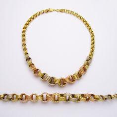#Necklace with #Bracelet 18kt #Gold #Set  http://antoinesaliba.com/link.php?id=386 #AntoineSaliba #Lebanese #Jewelry #Designer