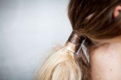 Clear ponytail holder
