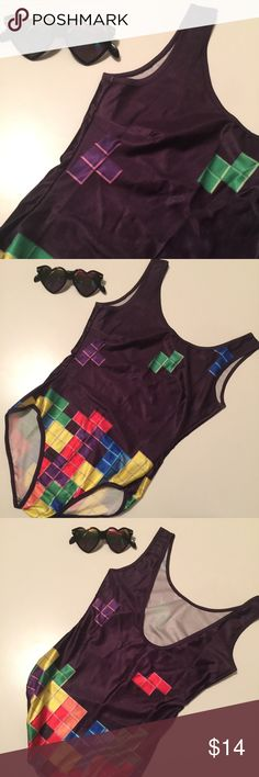 NWOT Tetris Bodysuit/Swimsuit NWOT! So adorb as a bodysuit or swimsuit this season! Scoop back. Other