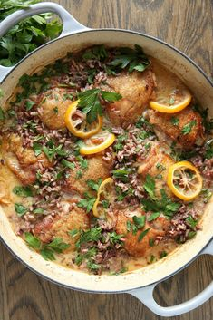 Creamy Lemon Chicken with Wild RiceDelish