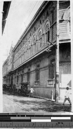 Side view of St. Paul's Hospital, Manila, Philippines, 1927