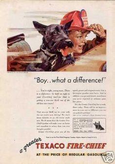 Texaco Color Ad Boy/scottish Terrier (1933)