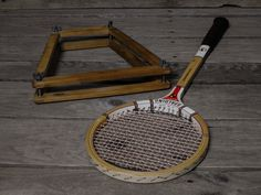 Vintage Spalding Racquet, Squash Game, Match Play, Round Head Design, Precision Built, 75 285 Japan, Wood & Leather, White w Red, Home Decor by VintageDecorAddict on Etsy Retro Home Decor, Home Office Decor, Entryway Decor, Wall Decor, Wall Art, Vintage Shelf, Vintage Baskets, Vintage Decor, Squash Game